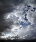 Overcast sky with storm clouds Royalty Free Stock Image