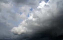 Overcast sky with storm clouds Stock Photo