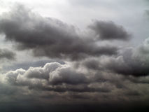 Overcast sky with storm clouds Royalty Free Stock Images