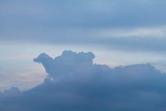 Overcast sky before sunset Royalty Free Stock Photo