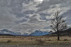 Overcast St. Marys side GNP Royalty Free Stock Photo