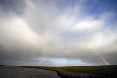 overcast tęcza Fotografia Royalty Free