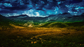 Overcast valley Stock Photography