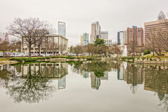 Overcast weather over  charlotte nc skyline Royalty Free Stock Photography