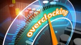 Overclocking processor 3D illustration Stock Photography