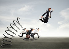 Overcome and achieve success Royalty Free Stock Photo