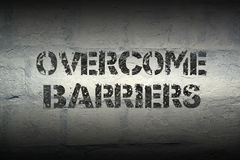 Overcome barriers gr Stock Photography