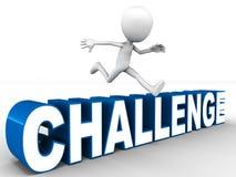 Overcome challenge Stock Photo