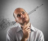 Overcome the confusion royalty free stock photography