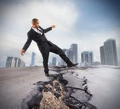 Overcome a crisis break Royalty Free Stock Images