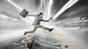 Overcome crisis break Stock Image