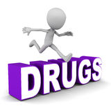 Overcome drugs Royalty Free Stock Photo