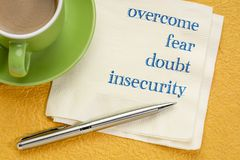 Free Overcome Fear, Doubt, Insecurity Royalty Free Stock Photos - 136852358