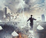Overcome fear of failure . Mixed media Stock Photos