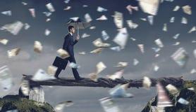 Overcome fear of failure . Mixed media Royalty Free Stock Photos