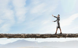 Overcome fear of failure . Mixed media Royalty Free Stock Photography