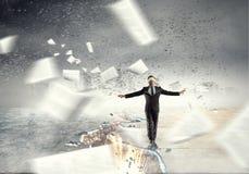 Overcome fear of failure . Mixed media . Mixed media Royalty Free Stock Image