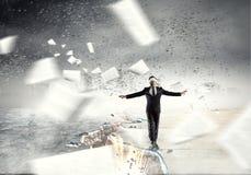 Overcome fear of failure . Mixed media . Mixed media Royalty Free Stock Photos