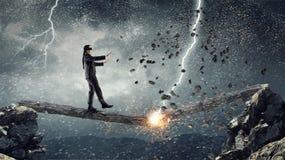 Overcome fear of failure . Mixed media . Mixed media Royalty Free Stock Photo