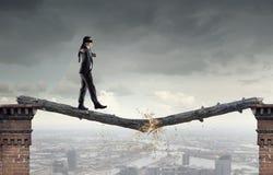 Overcome fear of failure . Mixed media . Mixed media Royalty Free Stock Photography