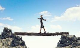 Overcome fear of failure . Mixed media . Mixed media Stock Photos