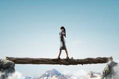 Overcome fear of failure . Mixed media . Mixed media Stock Photo