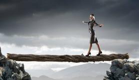 Overcome fear of failure . Mixed media . Mixed media Stock Photography