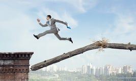 Overcome fear of failure . Mixed media Stock Image