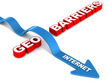 Overcome geo barriers Stock Image