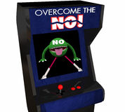 Overcome the No Beat Objection Persuasion Arcade Game. 3d Illustration vector illustration