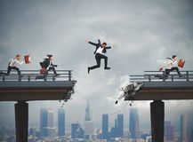 Overcome obstacles in career royalty free stock images