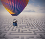 Overcome obstacles stock photography