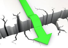 Overcome Obstacles - 3D. Arrows overcome a white wall Stock Photo