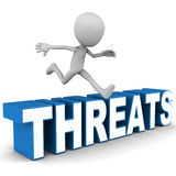 Overcome threats Stock Image