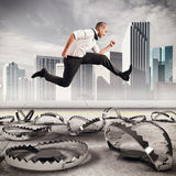 Overcome traps Stock Photo