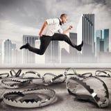 Overcome traps Stock Photo
