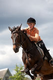 Overcoming. Russia Kovrov t. horse competitions cavalry overcoming Royalty Free Stock Images