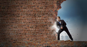 Overcoming barriers Royalty Free Stock Photography