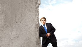 Overcoming barriers Royalty Free Stock Photo