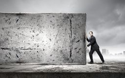 Overcoming barriers Stock Images