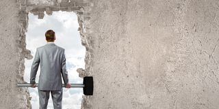 Overcoming challenges Royalty Free Stock Photo