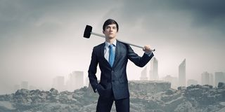 Overcoming challenges Stock Image