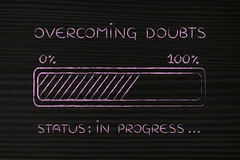 Overcoming doubts progress bar loading Royalty Free Stock Images