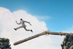 Overcoming fear of failure . Mixed media . Mixed media stock photography