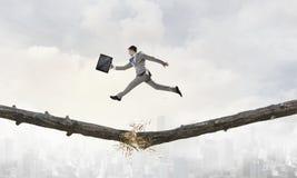 Overcoming fear of failure . Mixed media . Mixed media royalty free stock image