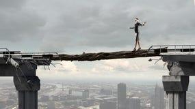 Overcoming fear of failure stock photo