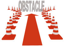 Overcoming obstacles. On white background. 3d graphics Stock Photography