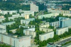Overcrowded住在城市的-柏林 免版税库存图片