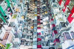 Overcrowded building in Hong Kong Royalty Free Stock Photography