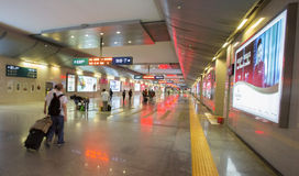 Overcrowded Chinese railway station Royalty Free Stock Photography